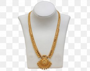 Gold Chain - Earring South India Jewellery Necklace Gold PNG