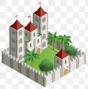 3D Castle Castle Clipart Image - Puzz 3D Castle 3D Computer Graphics Drawing Clip Art PNG
