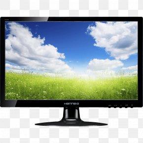 Monitor Image - Computer Monitor LED-backlit LCD Interlaced Video 1080p Digital Visual Interface PNG