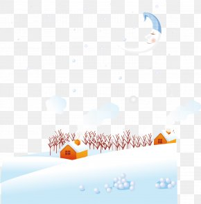 Vector Winter Snow House - Daxue Winter Euclidean Vector PNG
