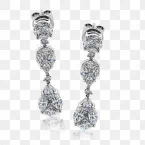 Earring - Earring Jewellery Diamond Cut PNG