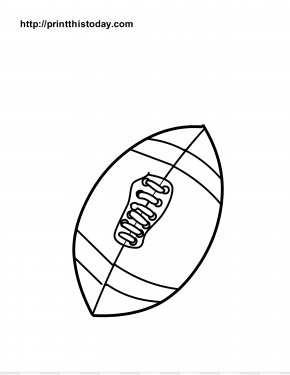 Foot Coloring Page - American Football Coloring Book Drawing PNG