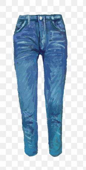 Drawing Jeans - Jeans Denim Drawing Watercolor Painting PNG