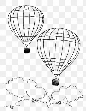 Hot Air Balloon - Colouring Pages Coloring Book Hot Air Balloon Drawing PNG