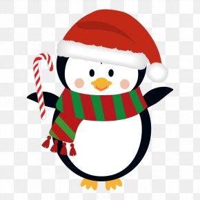 Penguin - Penguin Christmas Lights Santa Claus Clip Art PNG
