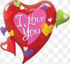 Love Balloon Decoration - Mylar Balloon Love Heart Shape PNG