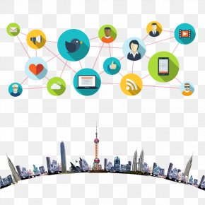Global Cities Material Download - Social Media Communication Customer Relationship Management Icon PNG