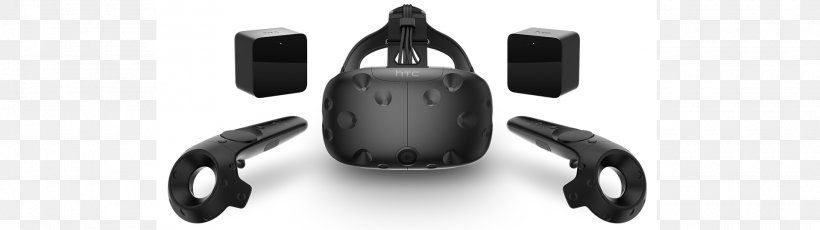 HTC Vive Oculus Rift Virtual Reality Headset Samsung Gear VR, PNG, 1920x540px, Htc Vive, Auto Part, Black, Black And White, Gaming Computer Download Free