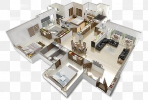 House - House Plan Furniture Interior Design Services 3D Floor Plan PNG