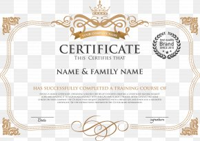 European Style Horizontal Version Of The Certificate - Template Academic Certificate Diploma PNG