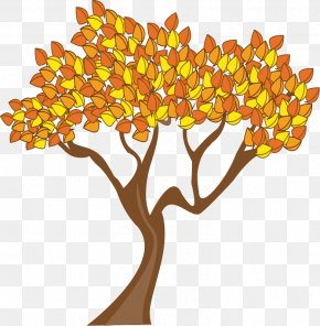 Free Thanksgiving Vector Art - Tree Autumn Leaf Color Clip Art PNG