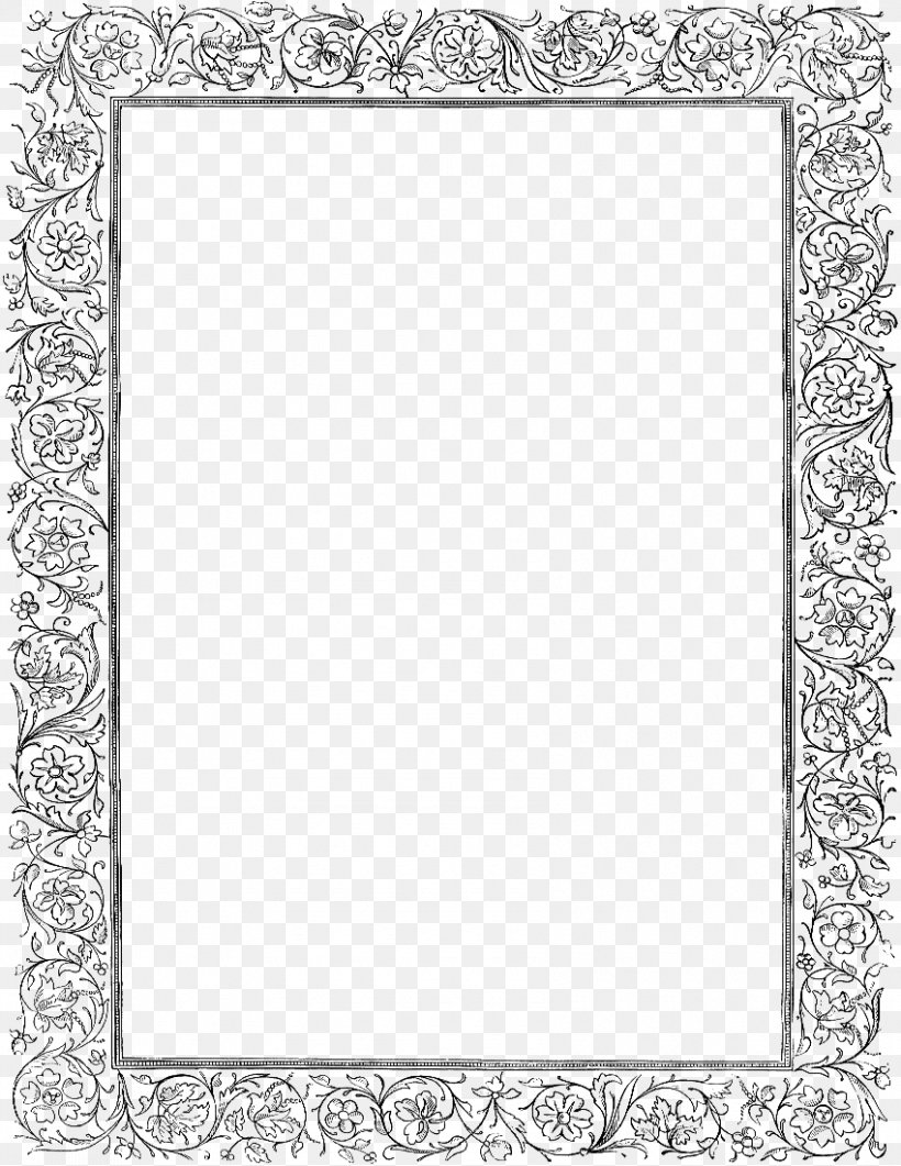 Picture Frame Clip Art, PNG, 850x1100px, Victorian Era, Area, Art, Black And White, Monochrome Download Free