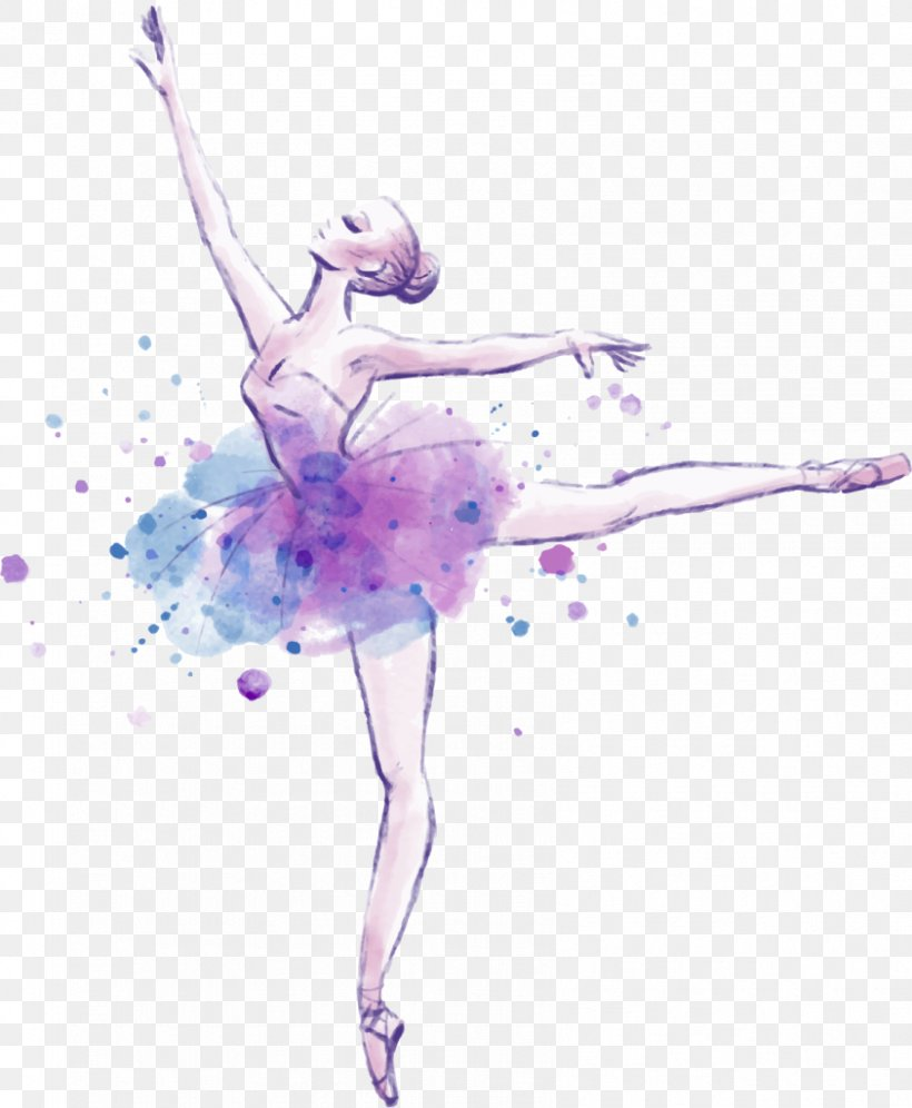 Ballet Dancer Drawing Watercolor Painting Png 843x1024px Watercolor Cartoon Flower Frame Heart Download Free