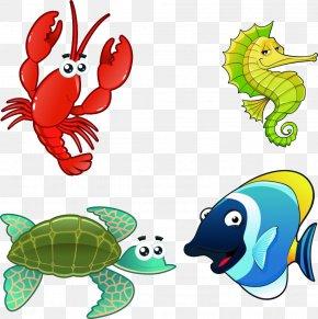 Fish,Aquarium,Aquatic,animal,Cartoon - Cartoon Aquatic Animal Marine Life Illustration PNG