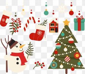 Christmas Tree With Christmas Decorations - Christmas Tree Christmas Ornament Santa Claus PNG