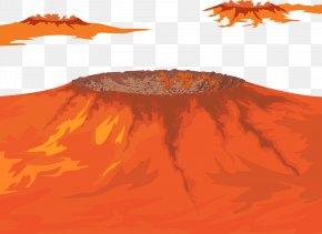 Vector Volcano - Volcano Euclidean Vector Plot PNG