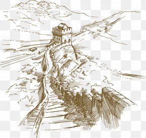 China Great Wall Artwork - The Architecture Of The City Drawing Illustration PNG