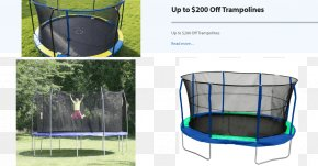Trampoline - Trampoline Safety Net Enclosure Sporting Goods Trampolining Backboard PNG