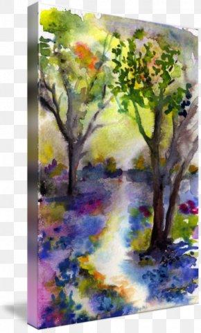 Watercolor Rainforest - Watercolor Painting Acrylic Paint Art PNG