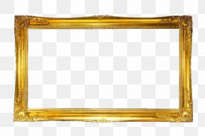 Golden Text Box Frame - Text Box Gold PNG