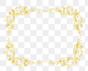 Gold Watercolor Painting - Gold Picture Frames PNG