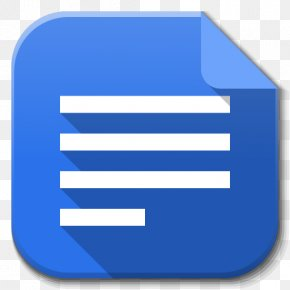 Apps Google Drive Docs - Blue Angle Area Text PNG