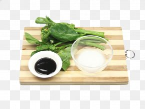 Chopping Board Put Kale - Chinese Cuisine Vegetarian Cuisine Chinese Broccoli Dish Kale PNG