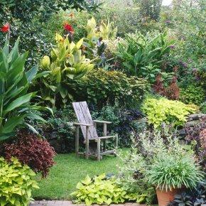 Patio - Cottage Garden Flower Garden Desktop Wallpaper PNG