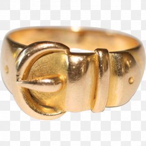 Vintage Gold - Jewellery Ring Bangle Gold Metal PNG