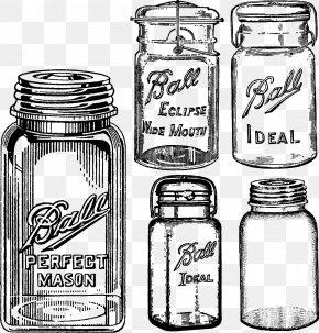 Vector Jar - Mason Jar Canning Clip Art PNG