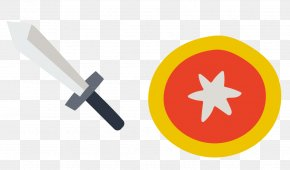Sword Shield - Euclidean Vector Shield Sword PNG