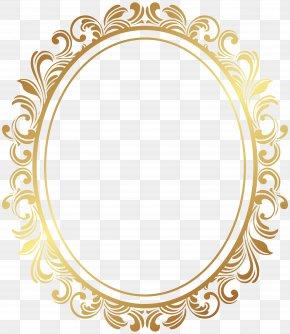 Oval Border Deco Frame Clip Art - Picture Frame PNG