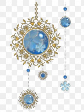 Blue Gemstone Bead Pattern - Ornament PNG