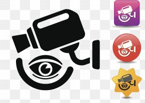 Electronic Eye Camera Icon - Wireless Security Camera Icon PNG