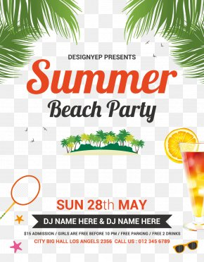 Romantic Summer Party Green Leaf Juice - Blenheim Free Party Flyer Beach PNG