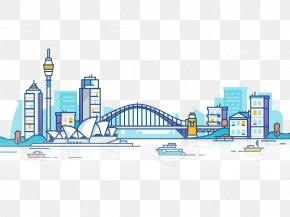 Hand-painted Sydney City - City Of Sydney Architecture Dribbble Illustration PNG