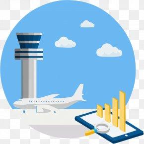 Urban Construction And Aircraft - Airplane Flight Air Travel Clip Art PNG