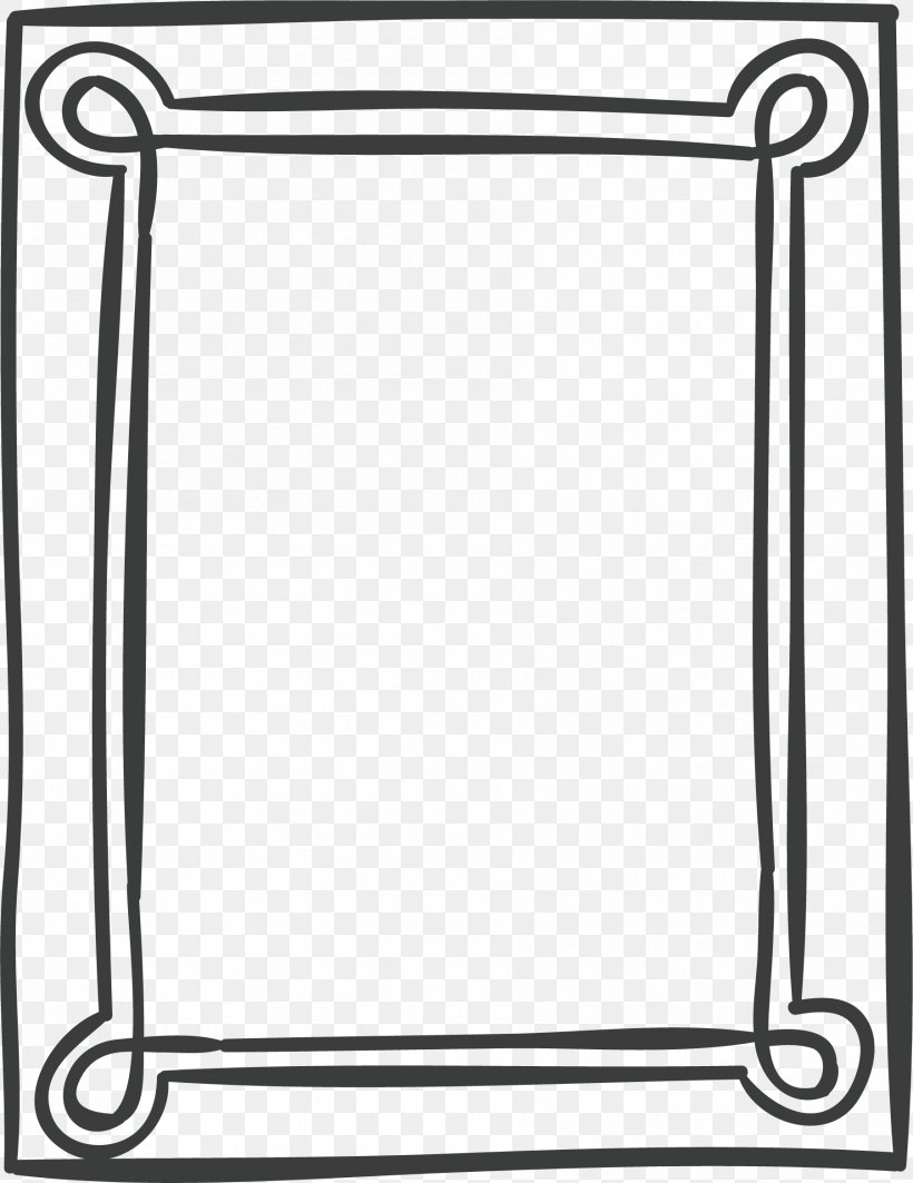 Designer Illustration, PNG, 1803x2339px, Picture Frames, Area, Bathroom Accessory, Black And White, Monochrome Download Free