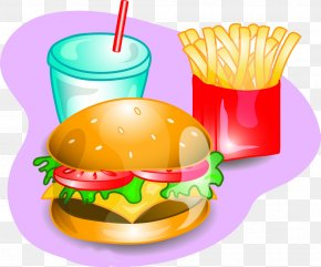 Fries Burger - Fast Food Drawing Stock Illustration Clip Art PNG
