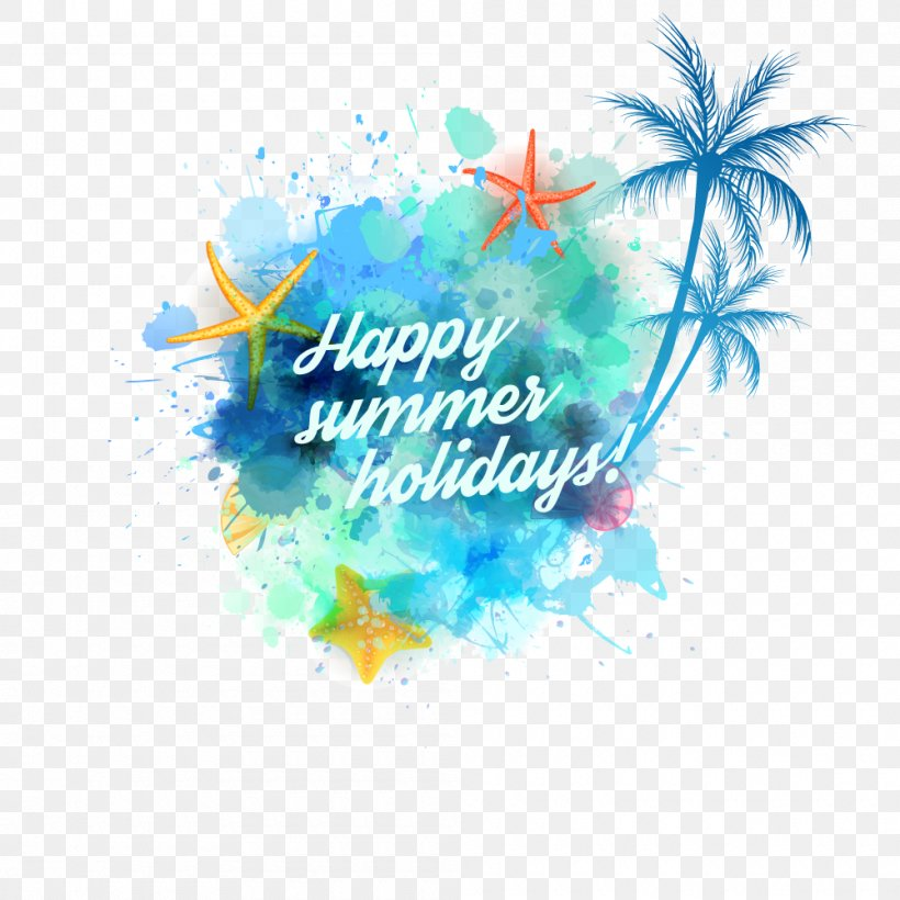 Summer, PNG, 1000x1000px, Arecaceae, Aqua, Artwork, Brand, Coconut Download Free