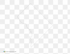Map - Blank Map Outline Of Washington, D.C. Clip Art PNG
