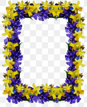 Purple Yellow - Floral Spring Flowers PNG