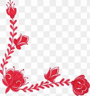 Ornaments - Flower Red Floral Design Clip Art PNG