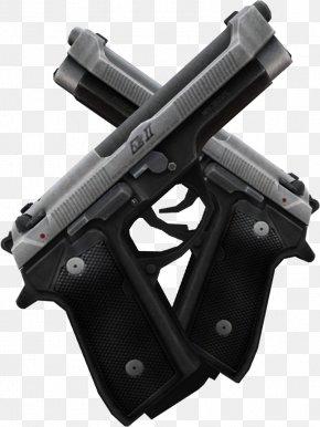 Hand Gun - Weapon Firearm Air Gun Pistol Dual Wield PNG