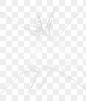 Broken Glass Pattern - Black And White Line Angle Point PNG