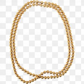 Gold Chain - Necklace Jewellery Pearl Bead Gold PNG