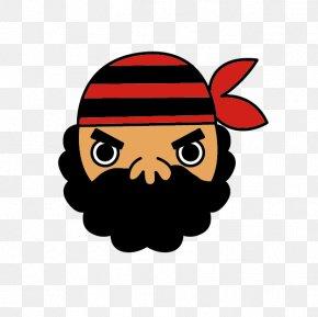Cartoon Bearded Pirate - Piracy Cartoon Clip Art PNG