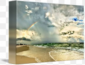 Rainbow - Shore Sky Rainbow Sea Wave PNG
