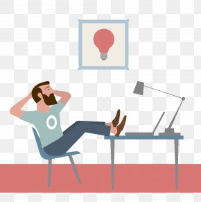 Flat Wind Illustrations Relax Work - Student Illustration PNG