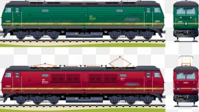 Hand-painted Train - Train Passenger Car Rail Transport Railroad Car Locomotive PNG